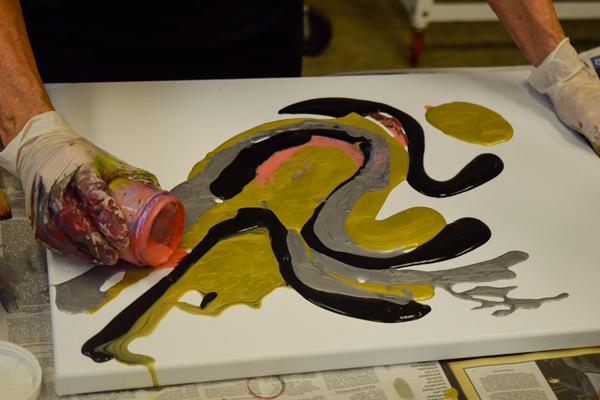 Pouring Paint Pop-up Workshop