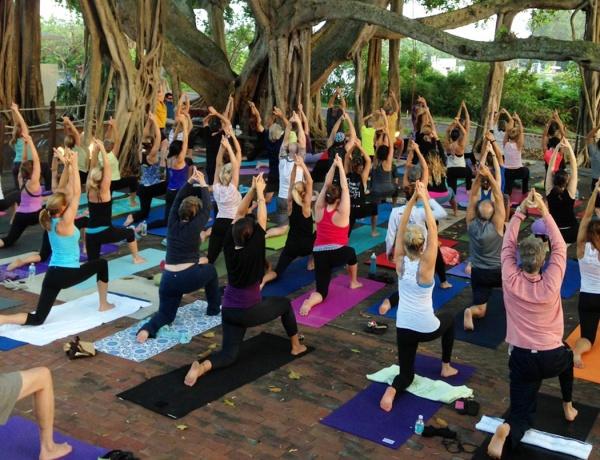 Twilight Yoga at the Light