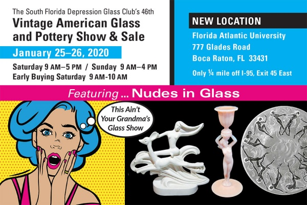 Vintage American Glass and Pottery Show & Sale